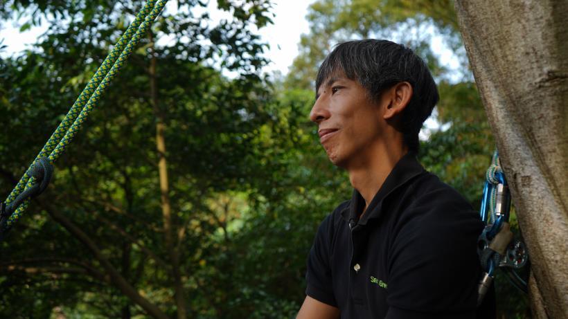 這個職業全台僅有 10人,他是第一位!化身真人版「泰山」,爬上樹 成為樹的醫生!