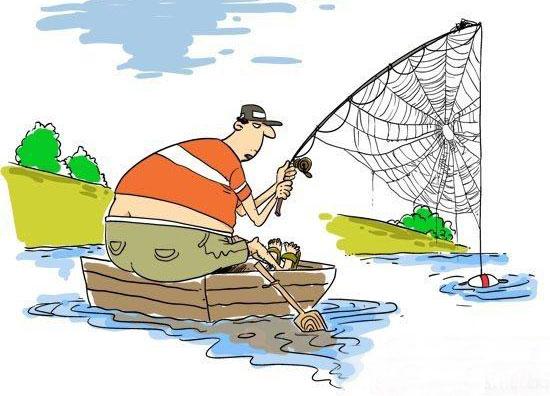 钓鱼人矢量图